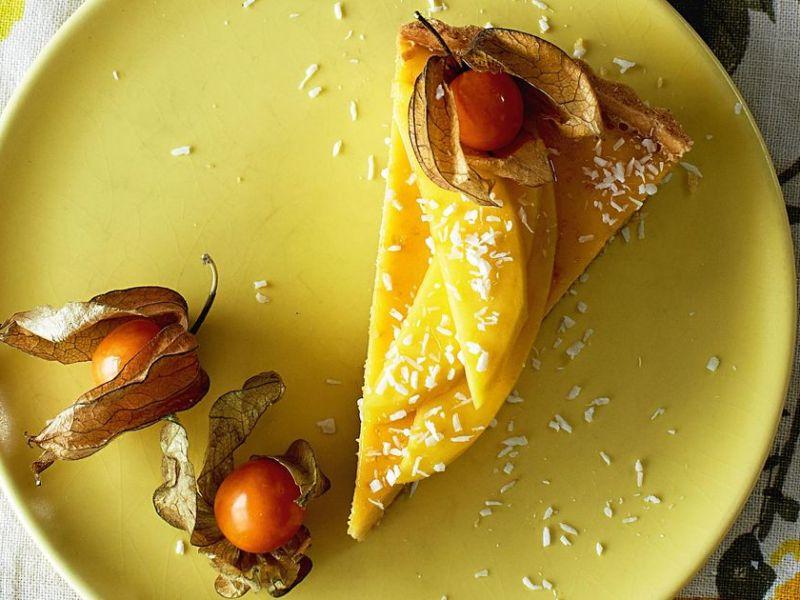 Flan de fruits exotiques