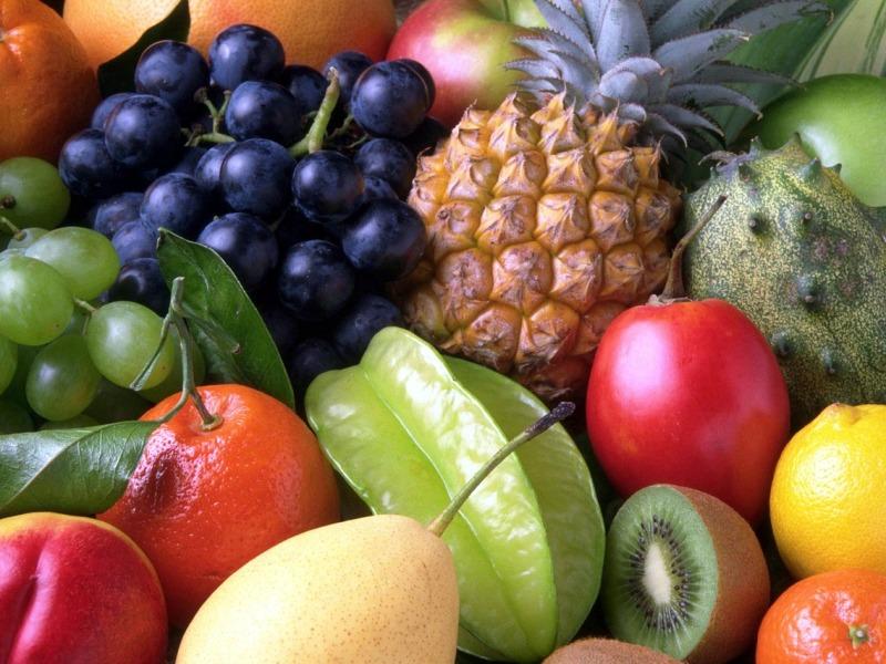 Carrés légers aux fruits exotiques